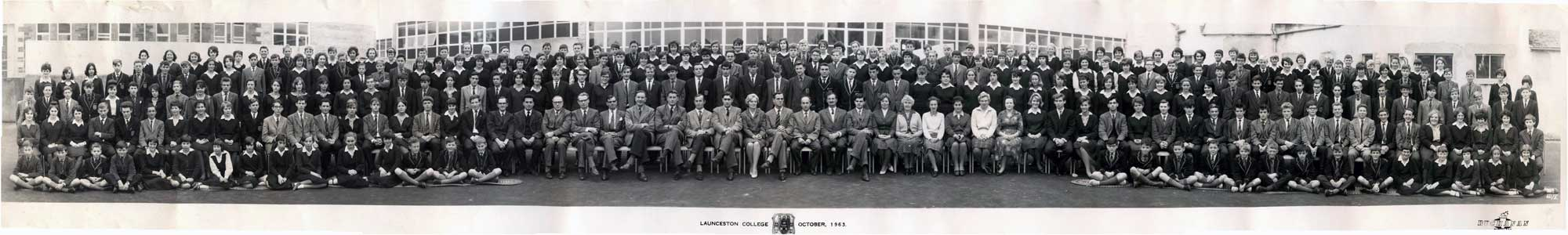 Launceston College 1963-64.