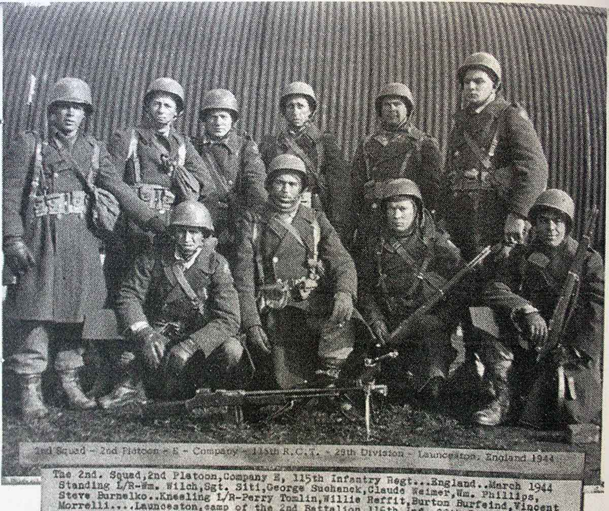 2nd-squad-2nd-platoon-company-e-115th-infantry-reg-1944-at-pennygillam-launceston