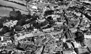Aerial of LAUNCESTON FROM THE EARLY 1950S