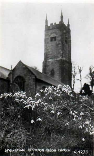 St. Nonna's Church, Altanun in the 1940's