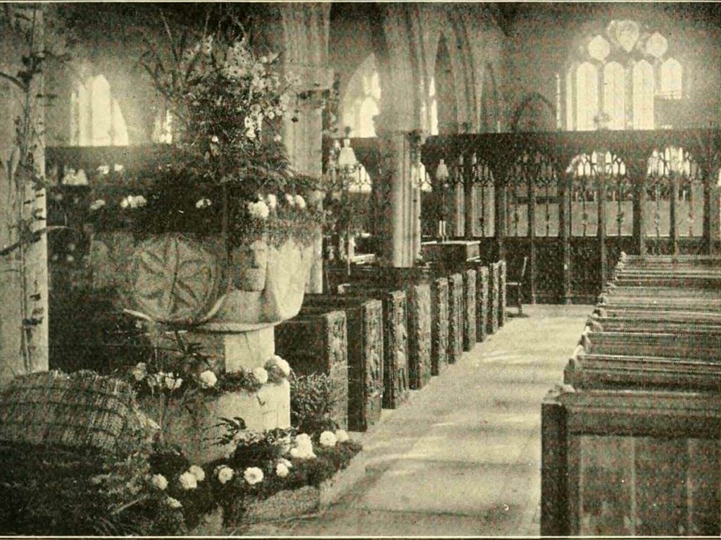 Altarnun Church interior in 1901