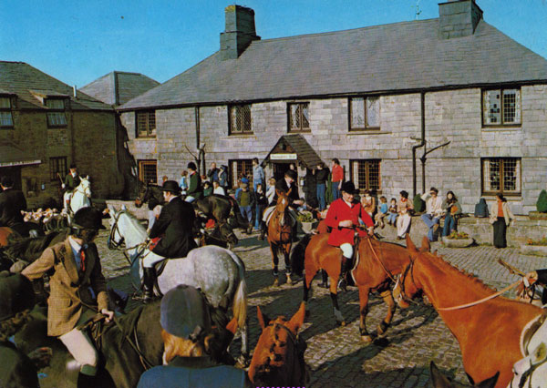 Bolventor Hunt Meet at Jamaica Inn in the 1970's.