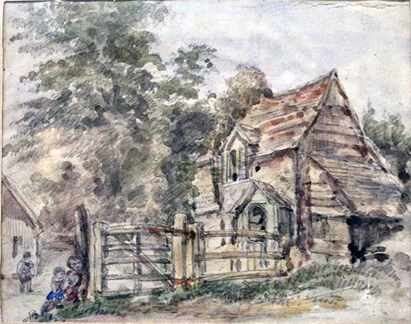 Chapel Tollgate House, Launceston 1867 from a painting by Miss E. F. Smith