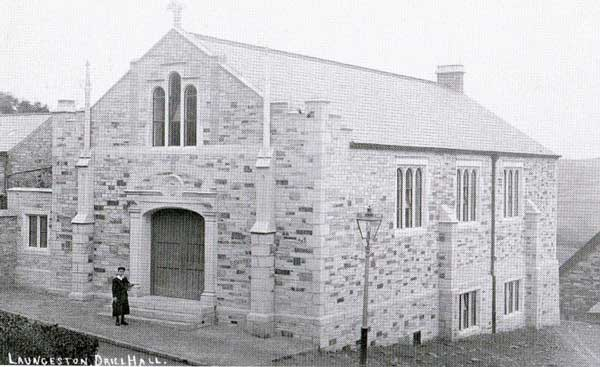 Launceston Drill Hall shortly after its opening.