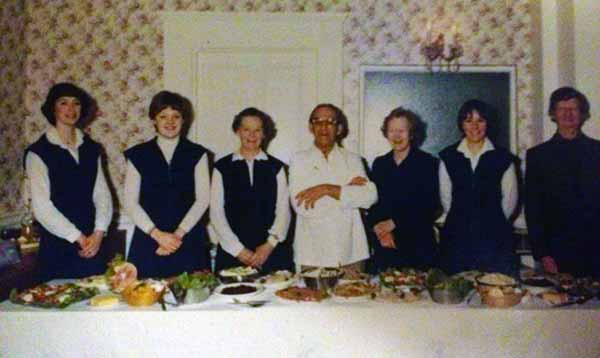 Above Eagle House staff in 1981. Photo courtesy of Kirsty Hamley.
