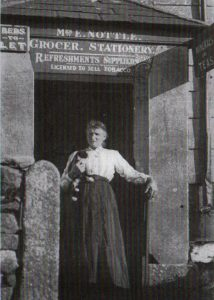 Emma Nottle outside her shop at Bolventor