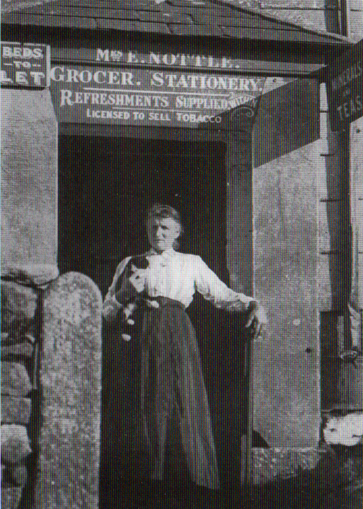 Emma Nottle outside her shop at Bolventor