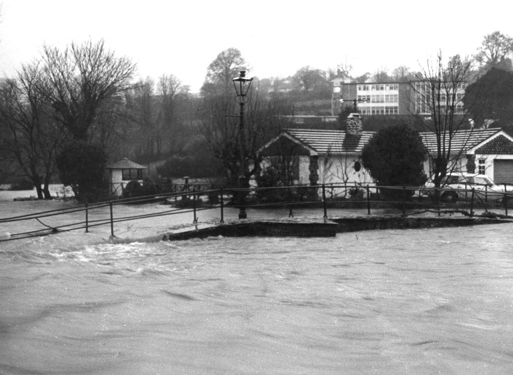 Flooded Kensey December 1980.