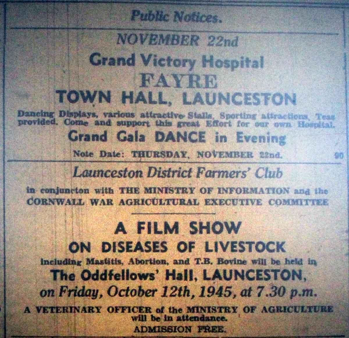 grand-victory-hospital-fayre-advert-october-1945