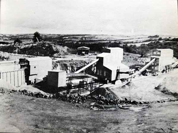 Greystone Quarry with its new plant in 1968.
