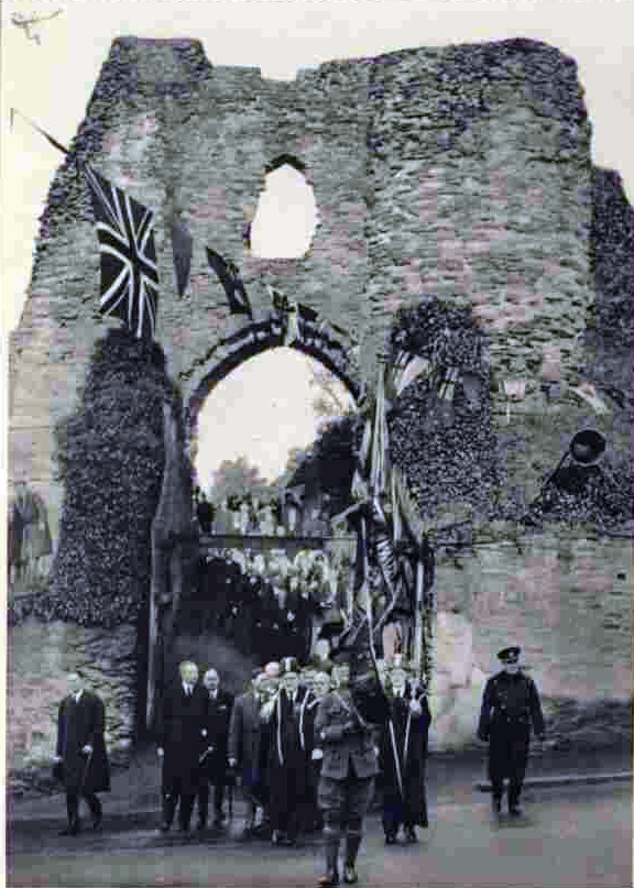King George is led out of Launceston Castle in 1937