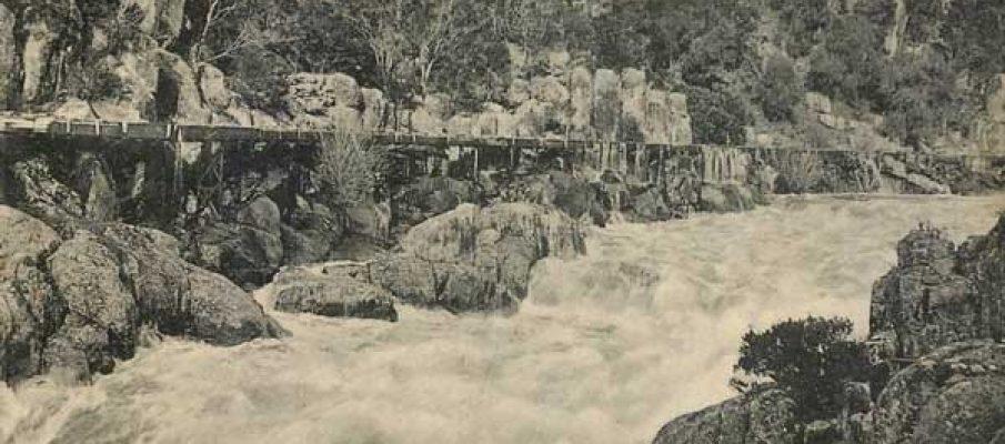 launceston-flooded-cataract-gorge-tasmania-in-1904