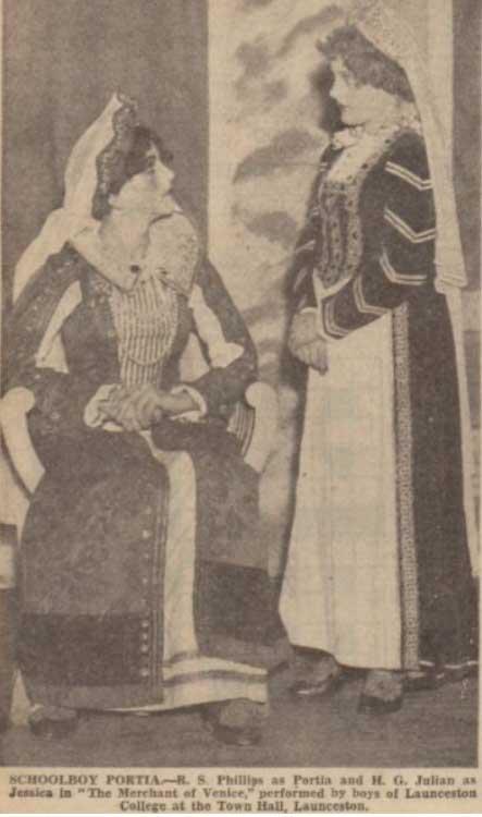 launceston-college-put-on-themerchant-of-venice-december-1937