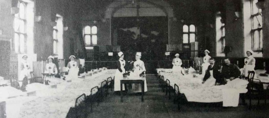 launceston-town-hall-as-a-hospital-in-1915