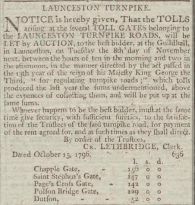 launceston-turnpike-trust-tenders-24-october-1796