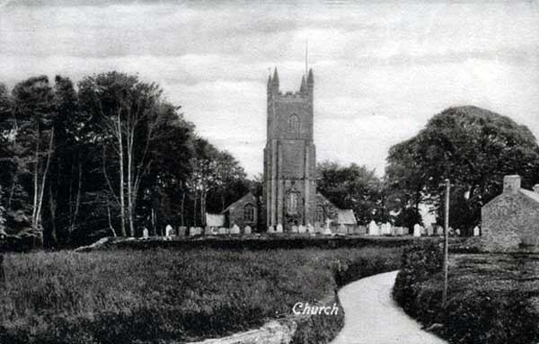 St. Martins Church, Lewannick c.1900.