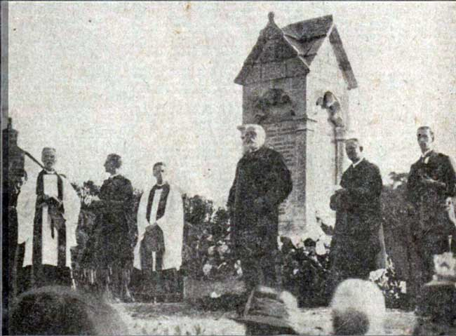 Lewannick war memorial dedication in November 1921 by Sir George Croydon- Marks MP.