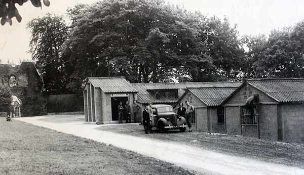 American nissen huts on Launceston Castle Green during WW2