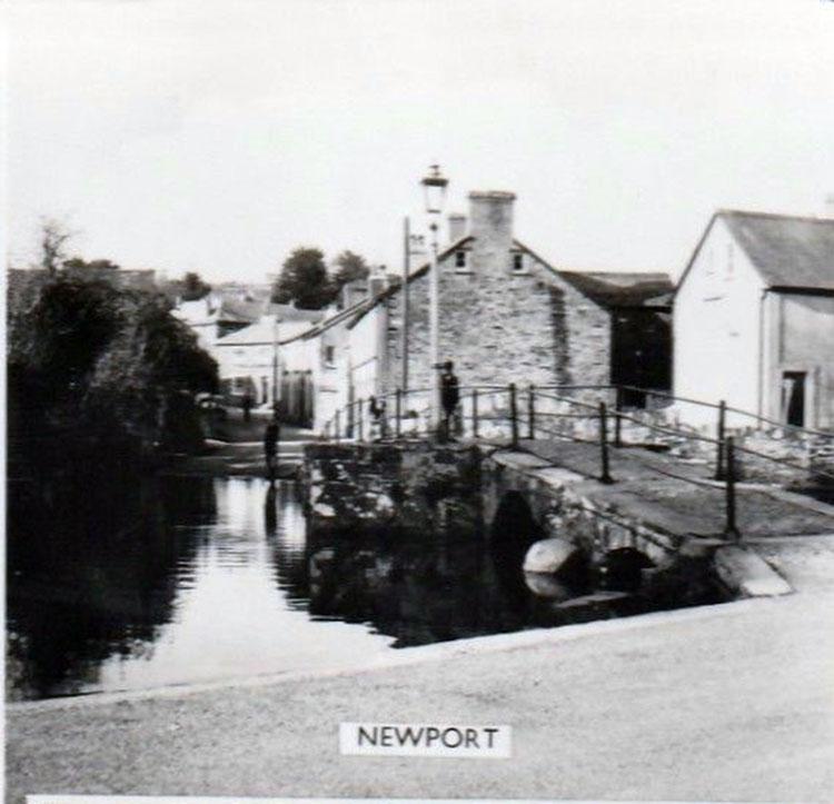 River Kensey and Priors Bridge and looking up Westbridge Road, Launceston in the 1950's.