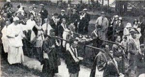 St. Cuthbert Mayne pilgrimage through the Castle Green in 1932.