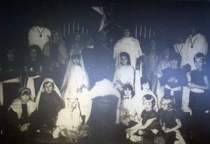 St. Cuthbert Mayne children and their nativity play in 1991.