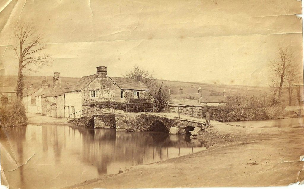 River Kensey and Priors Bridge and looking up Westbridge Road, Launceston, c.1860's.