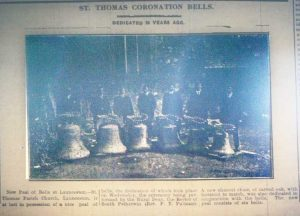 St. Thomas Church Bells in 1920.
