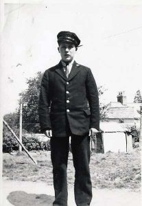 Stanley Tout in his railway uniform.