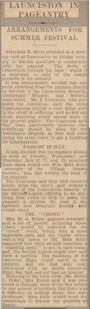 summer-pageant-western-morning-news-09-march-1931