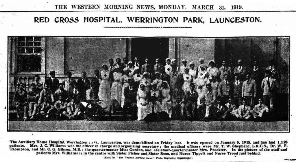 Werrington Hospital in 1915