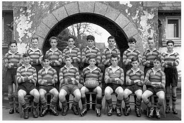 Launceston College Rugby Team 1957. Photo courtesy of Chris Hicks
