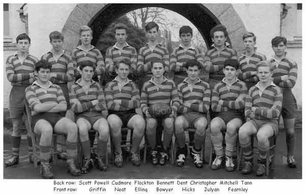 Launceston College Rugby Team 1960. Photo courtesy of Chris Hicks