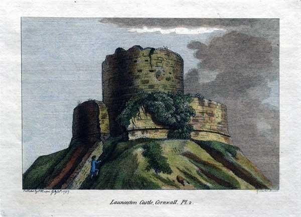 1787-print-of-launceston-castle