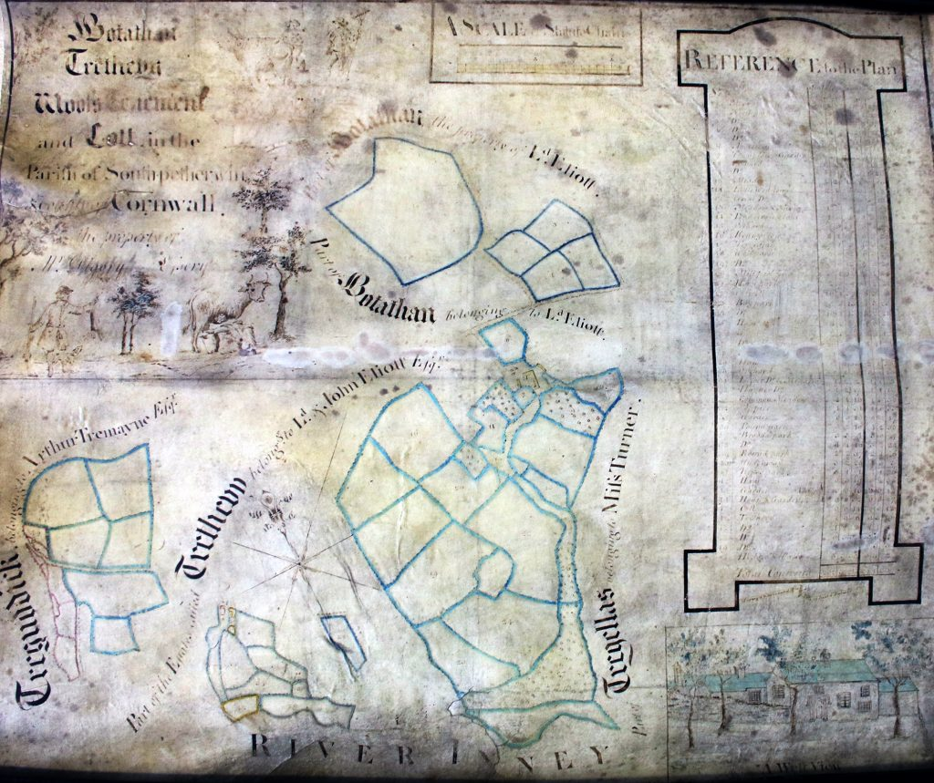 1789 Plan of Tenements in South Petherwin