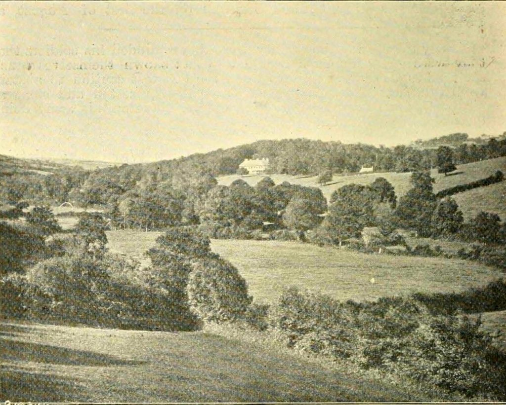 A view of Landue House, Lezant from 1900