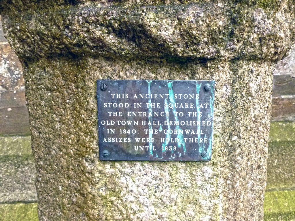 Launceston Assizes Stone plaque