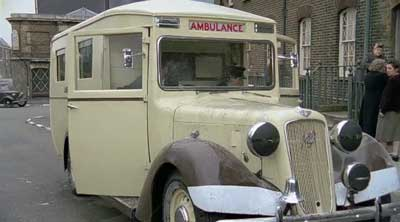 An Austin 18 Ambulance similar to the one run by the division in the 1940's.