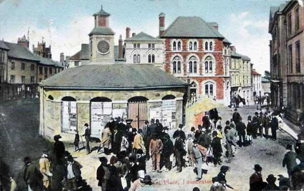 Launceston Town Centre in 1909.