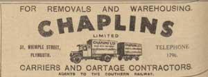 chaplins-1935-advert