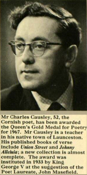 Charles Causley in May 1967