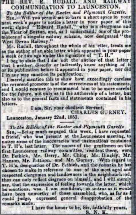 charles-gurney-correspondence-in-the-exeter-and-plymouth-gazette-29-january-1853