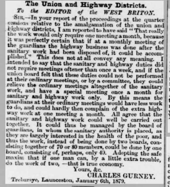 charles-gurney-letter-to-the-west-briton-and-cornwall-advertiser-09-january-1879