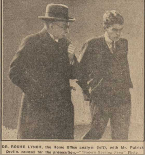 dr-roche-lynch-and-patrick-devlin-at-the-anne-hearn-hearings-at-launceston-march-18th-1931