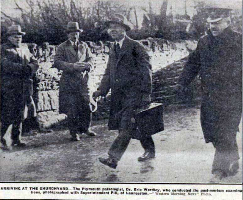 Dr. Wordley arrives at Lewannick on the 9th of December 1930, to examine the exhumed body of Lydia Everard.