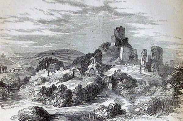 drawing-of-launceston-castle