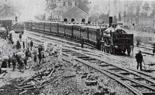 The first Train into Launceston 1865.
