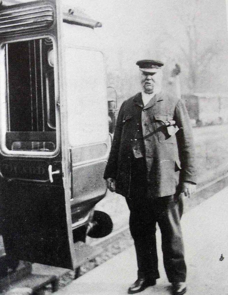Guard Clarke of the GWR at Launceston Railways Station.