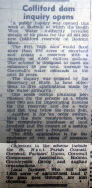 Colliford inquiry article from January 1976.