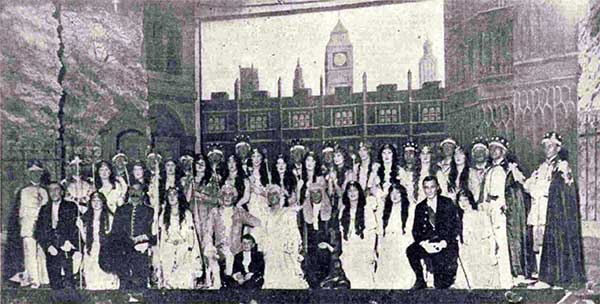 Launceston Amateur Operatic Society and their December 1930 production of 'Iolanthe.'
