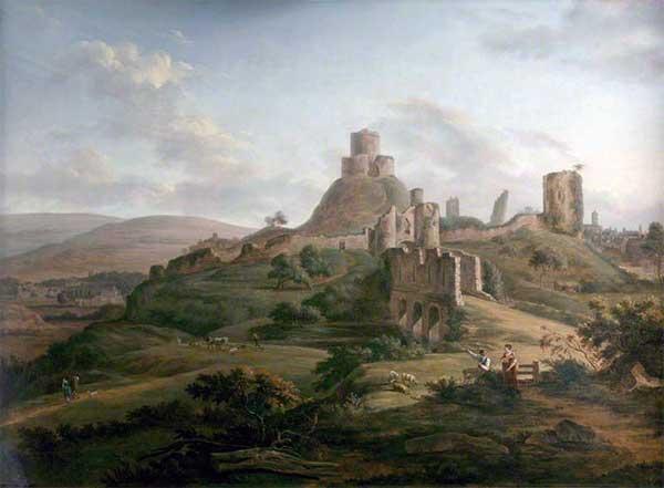 launceston-castle-by-hendrik-frans-de-cort-c1764